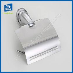 Badezimmer-zusätzliches Zink-Legierungs-Chrom überzogener Toilettenpapier-Rollenhalter mit Kappe