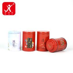 Embalagem Caixa de estanho estilos chineses Round Caixas mini USB de doces de chá e café de açúcar Latas de armazenagem de contentores