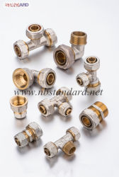 Messingkomprimierung Pex-Al-Pex Rohrfittings; MessingPex Rohrfitting
