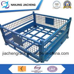 Склад наращиваемые складной металлический контейнер для транспортировки поддонов проволочной сетки для продаж