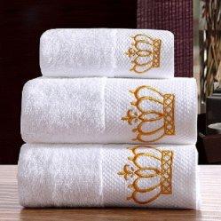 Из египетского хлопка индивидуальные Dobby полотенце, роскошный отель, банными полотенцами, 100% хлопок роскошный отель полотенце спорт зал полотенце
