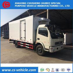 Dongfeng 4X2 5tonsの冷凍ボックストラックによって使用されるフリーザーのトラック
