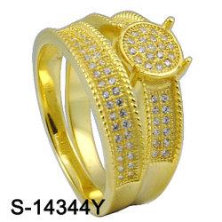 2016 новых конструкций комбинации 925 Silver микро настройка обедненной смеси пару кольца (S-14344Y)