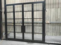 L'acier à bas prix de bonne qualité en français et de la vitre de porte d'entrée