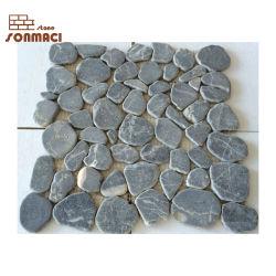 Heißer Verkaufs-dekoratives schwarzes Steinkiesel-Entwurfs-Mosaik für Flooing