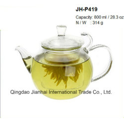 800ml Hand-Made de vidro transparente bebendo bule de chá com filtro de vidro