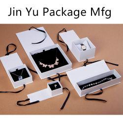 Scatole di presentazione impaccanti del regalo dei monili di carta eleganti su ordinazione del nastro all'ingrosso