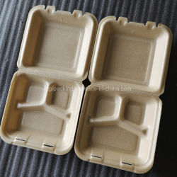 Expandiu biodegradável PLA comida caseira Clamshell habitáculo