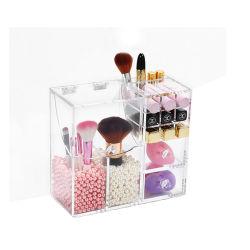 De duidelijke Vertoning van de Houder van de Borstel van de Organisator van de Make-up Acryl Kosmetische