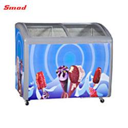 Schiebendes Glas-Tür-Eiscreme-Brust-Handelsgefriermaschine