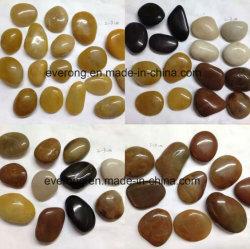 Negro/Amarillo/Rojo/Blanco/Gris piedra pulida de alta pavimentadora de piedra de guijarros y pavimentación