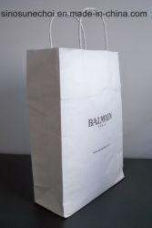 カスタムロゴの印刷の熱い押す装飾的なドアのギフトの紙袋