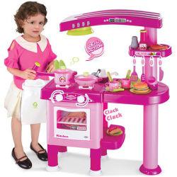Popular Kids Cocina Establece Juguete Cocina con Color Rosado