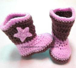 Commerce de gros de chaussures et de Hat Crochet Chaussures de bébé