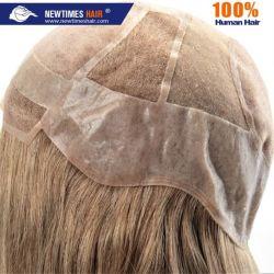 Custom дамы моно и реального человеческого волоса Wig кожи
