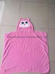 OEM에 의하여 주문을 받아서 만들어지는 디자인 만화 두건이 있는 면 테리 아기 외투 욕의 목욕 수건