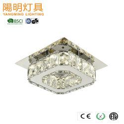 Projet d'hôtel lustre en cristal de décoration moderne carré LED Crystal de l'ombre d'éclairage de plafond wall lamp