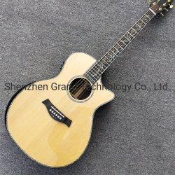 Abulón Real Abeto macizo con reposabrazos afinadores de Guitarra Acústica de oro