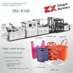 Caixa de Não Tecidos de fibras de polipropileno Bag fazendo a máquina com o manípulo on-line (Zxl-E700)