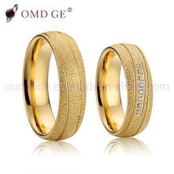 La mode Gold Ring Titanium Femmes Ensemble de la bande de bijoux de mariage