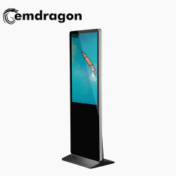 3G Ad Video Player 55 インチ Super Slim Floor Standing Kiosk Advertising and Mobile Phone Charging Station 1000 nIt LCD モニタ