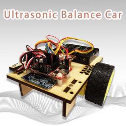 Equilíbrio de madeira carro com Sensor Ultrosonic Kit do Robô