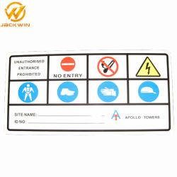 Il piatto di alluminio personalizza i segnali di pericolo di traffico riflettente di stampa