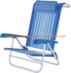 베개의 유무에 관계없이 뒤 홀더 그리고 낮은 시트를 가진 최신 판매 Foldable 비치용 의자