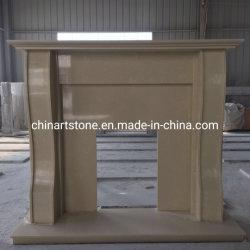 Manteau de cheminée en marbre simple cheminée en pierre pour la décoration d'accueil