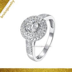 Custom argent 925 Bijoux Bijoux Accessoires de Mode de l'or incrusté de bague en diamant pour mariage