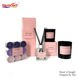 Новая конструкция розового цвета женщин коллекции аромат свечи и пластинчатый диффузор,