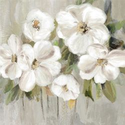 Pittura a olio floreale bianca della tela di canapa della decorazione della casa di arte della parete di Absrtact