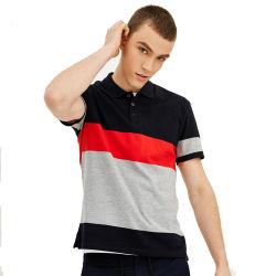 De beste Verkopende T-shirts van het Polo van de Streep van Mensen Tweekleurige 100% Katoen