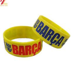 Bracelet en silicone personnalisé avec logo gravé remplis d'encre Bracelet Bracelet en silicone Watch Bracelet en silicone