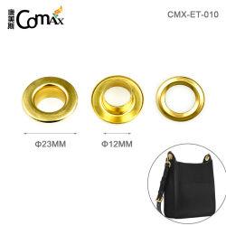 洗濯できるめっきされた金属アイレット高品質は衣類のための衰退しなかったり、袋のための23mmの金の金属のアイレットそしてグロメットにアイロンをかける