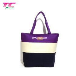 Для тяжелого режима работы хлопок Canvas Ткань многократного использования пляжа женская сумка с ежедневно используйте сумку с молнией