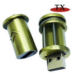 Legering USB van het Zink van het Metaal van het Brons van de herinnering de Antieke