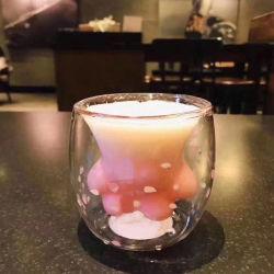 Основная часть оптовых Cat Paw кофе кружка Cat выступе стеклянная бутылка воды