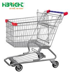 160 litros Carrito de compras con la plataforma de Metal Baby-Seat antirrobo Carrito de compra