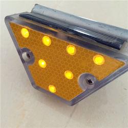 LED Délinéateur trapézoïdal réflecteur de rail de protection solaire