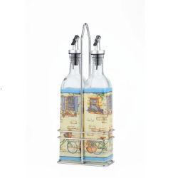 Tipo quadrato bottiglie di olio di vetro per la cucina utile