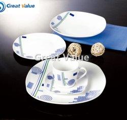 Estilo ocidental porcelana para restaurante White