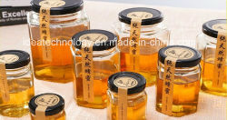 100ml 3ozの込み合いまたは蜂蜜のためのガラス真空の正方形の瓶
