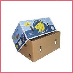 L'emballage de fruits de papier ondulé pliable Box boîte en carton<br/> fruits Haut et Bas Boîte de fruits Légumes Légumes boîte en carton<br/> Emballage plateau de fruits