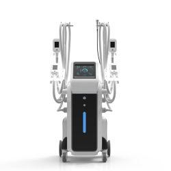 Cryolipolysis congelar la grasa de la máquina de adelgazamiento 4 asas para congelar la grasa al mismo tiempo de trabajo