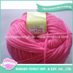 Reticolo di lavoro a maglia del maglione del bambino del calzino del Crochet del cotone del filato delle 4 pieghe
