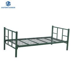 軍の金属の円形の管フレームの鉄の鋼鉄単一の取り外し可能なベッド