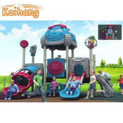 屋外の運動場装置子供または子供のためのバスケットボールの立場が付いているプラスチック象のスライド