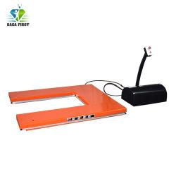 1ton 전기 상품 U 유형 상승 테이블 깔판은 상승을 가위로 자른다