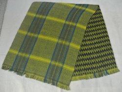 Tissus en acrylique couverture recto-verso foulard avec motif à carreaux, Chevron et d'effilochement Edge